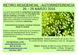 Charla Presentación del Retiro Autorreferencia en Tarragona