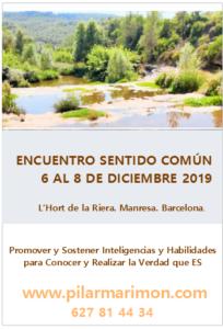 Encuentro Sentido Común del 6 al 8 de Diciembre 2019